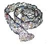 Silver/ Hematite Belt