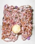 Pink Crystal Stone Cuff